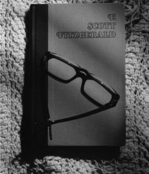 B&W Original -- Book-Glasses