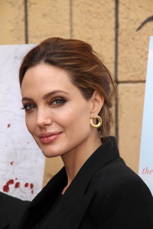 Angelina Jolie at the Golden Globe Foreign-Language Nominees Sem