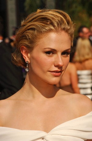 Anna Paquin  arriving at the 59th Annual Primetime Emmy Awards.