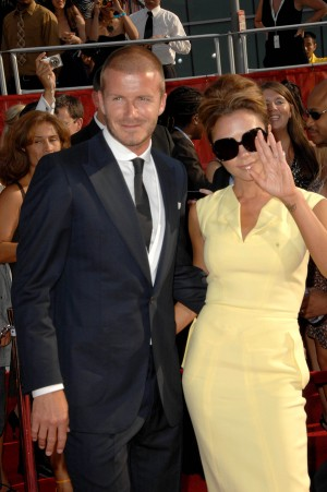 David Beckham and Victoria Beckham  at the 2008 ESPY Awards. Nok