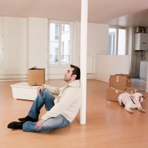 man apartment