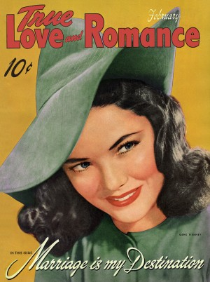 True Love and Romance vintage magazine - February 1942 -Cover Gene Tierney - Marriage is my Destination (3)