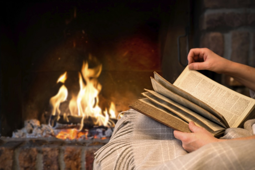 TS-475917291 Read by Fireplace