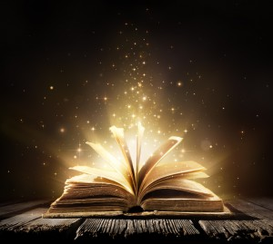 Magic Book With Shining Lights