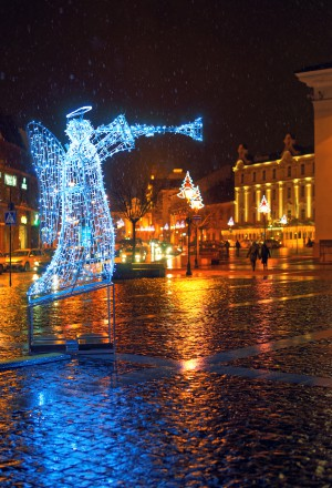 Vilnius Old Town Square at Christmas time